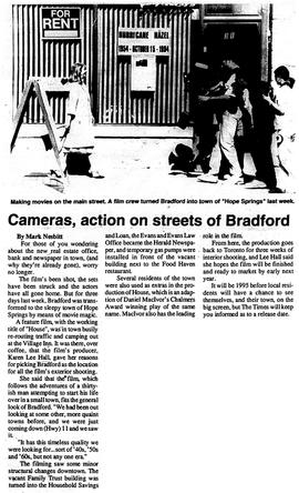 Cameras, action on streets of Bradford