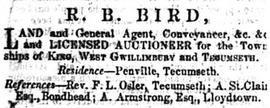 R.B. Bird - Auctioneer
