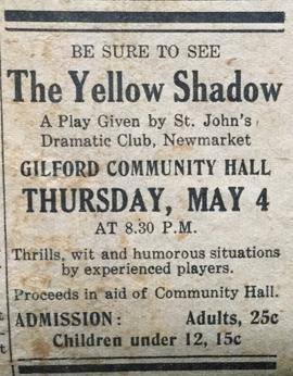 Gilford Community Hall Play Ad