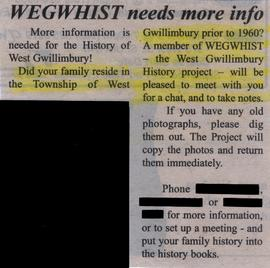 WEGWHIST needs more info