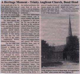 A Heritage Moment - Trinity Anglican Church, Bond Head
