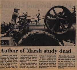 Author of Marsh Study dead