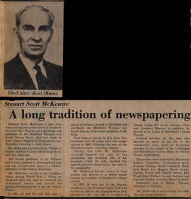 A long tradition of newspapering