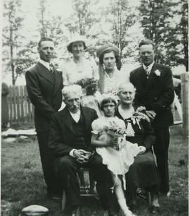 Albert Wood and Sarah Reilly with the Reilly Family