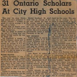 31 Ontario Scholars At City High Schools