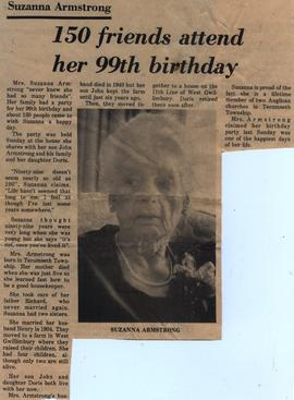 150 friends attend her 99th birthday